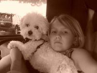 Grandaughter and granddog