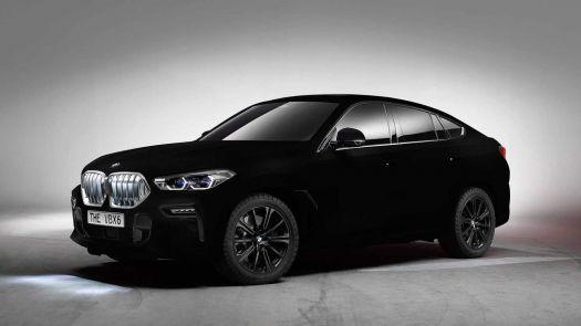 BMW X6 in Vantablack
