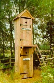 Theme: Outhouses - Two Story Privy with Access as You Might Expect