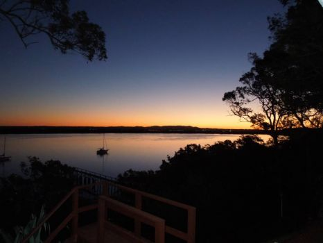 Sunset from Macleay Island, Queensland