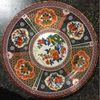 Peacock plate--large