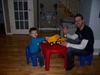 Grandson William playing with daddy