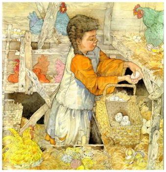 Blanche Found All the Nests Filled with Eggs ~ Jerry Pinkney