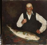 Charles Webster Hawthorne (American, 1872–1930), The Fish and the Man (1948)