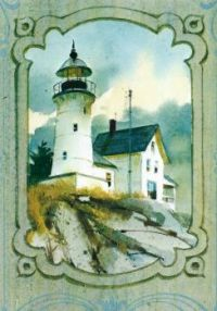 Lighthouse Painting Postcard