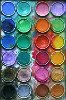 watercolor pots