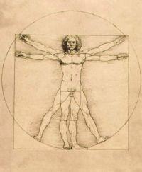 Da Vinci, L'homme de Vitruve (1485-1490)