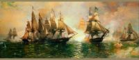Battle of Lake Erie,  Julian Oliver Davidson; 1813!!