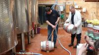 Filling the first cask at the Albion
