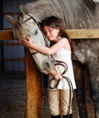 The love of a young girl and her horse