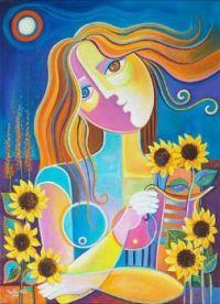 Vera: Girl Among the Sunflowers