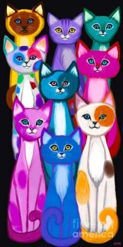 Colorful Cats Too by Nick Gustafson