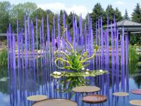 Blue Glass reeds with glass plant