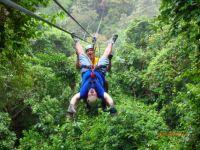 Upsidedown Zipline in Belize