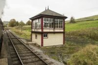 keighley & worth valley railway 30-10-2016 haworth loop signal box 06