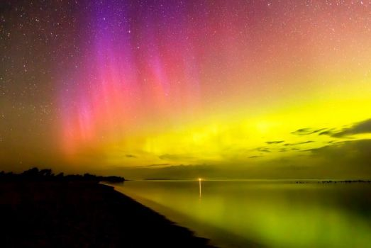 Aurora Over Sleeping Bear Bay by Kenneth Snyder 15 July 2012