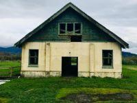 Deserted dairy barn