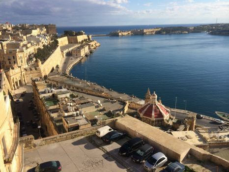 Valletta harbour this morning