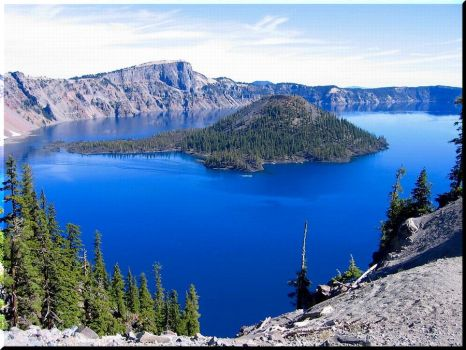 Relax At Crater Lake, Oregon
