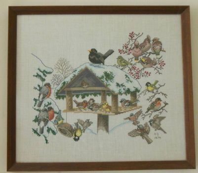 Winter birds - Thread count embroidery
