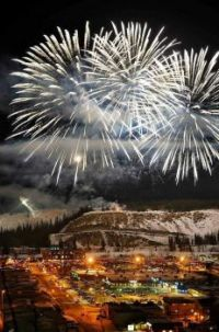 New Year in Whitehorse, Y.T.  Canada