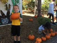 Pumpkin-Pickin' Grandson