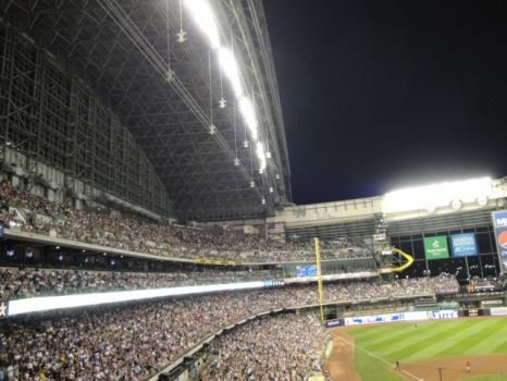 Night Baseball at Miller Park, Milwaukee