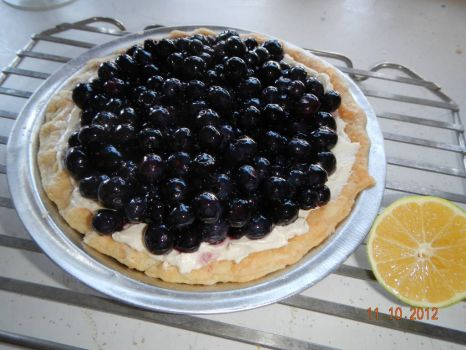 Fresh blueberry pie!