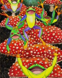 Catherine G. McElroy Art - Bouncing Frogs!