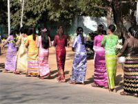 Elegant women in Myanmar