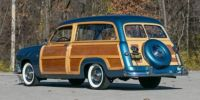 1951 Ford Country Squire Station Wagon Woody blue rear