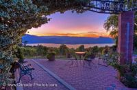 Okanagan Lake Vineyard Scenic Sunset @ www.Canada-Photos.com