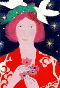 Lady with White Doves  -  Barbara Perrine Chu
