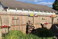 Wall of Colorful Bird Houses
