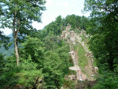 Rudkhan Castle in Iran