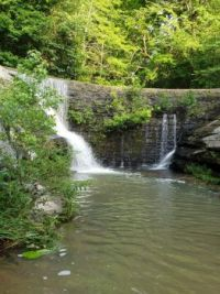 WATERFALL AT DIXON SPRINGS, ILLINOIS