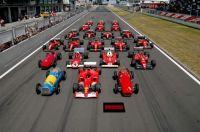 Formula 1 car lineup at the Nürburgring