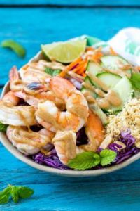Peanut Shrimp Bowl