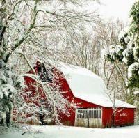 A SNOWY BARN