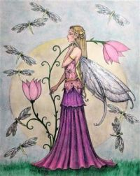 Fairy with dragonflies