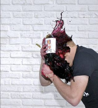 Waste of good wine