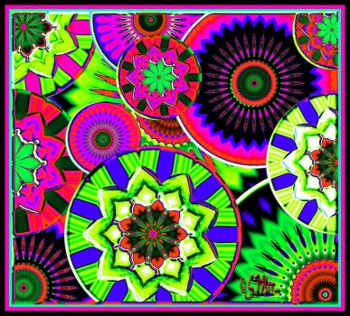 Variation On Flower Wheels.... (Mostly Large)....