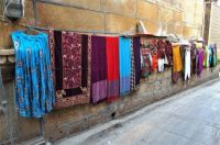 Items for sale in laneway in Jaisalmer, India