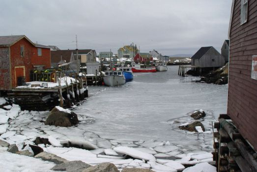 Peggys Cove Winter
