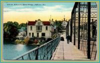 On the Milwaukee Street Bridge ~ 1911 Postcard from Jefferson, Wisconsin ~  The Gemütlichkeit City