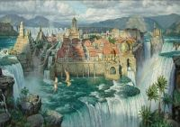 Waterfall City by James Gurney