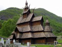 stave constructed church - Borgund, Norway.
