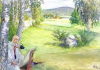 "Carl Larsson, ""Self Portrait in Beautiful Sundborn"""