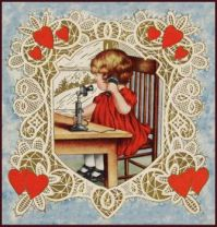 Vintage-Valentine-Little-Girl-on-phone