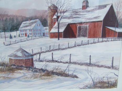 WInter Litchfield Co., CT by Richard E  Christian